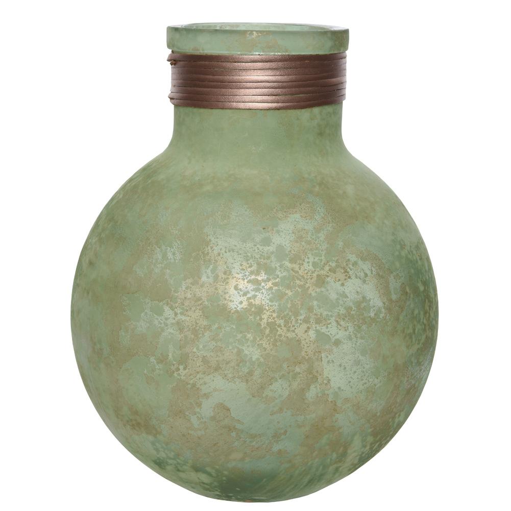 Vase Aus Recyclingglas Grün Gold 30cm 037108 Sunflower Design