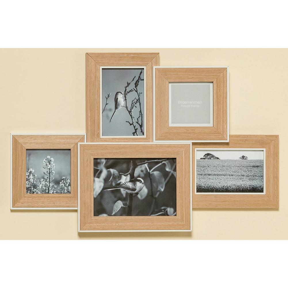 Bilderrahmen aus Holz 5 - fach 55cm - 037131 - Sunflower-Design
