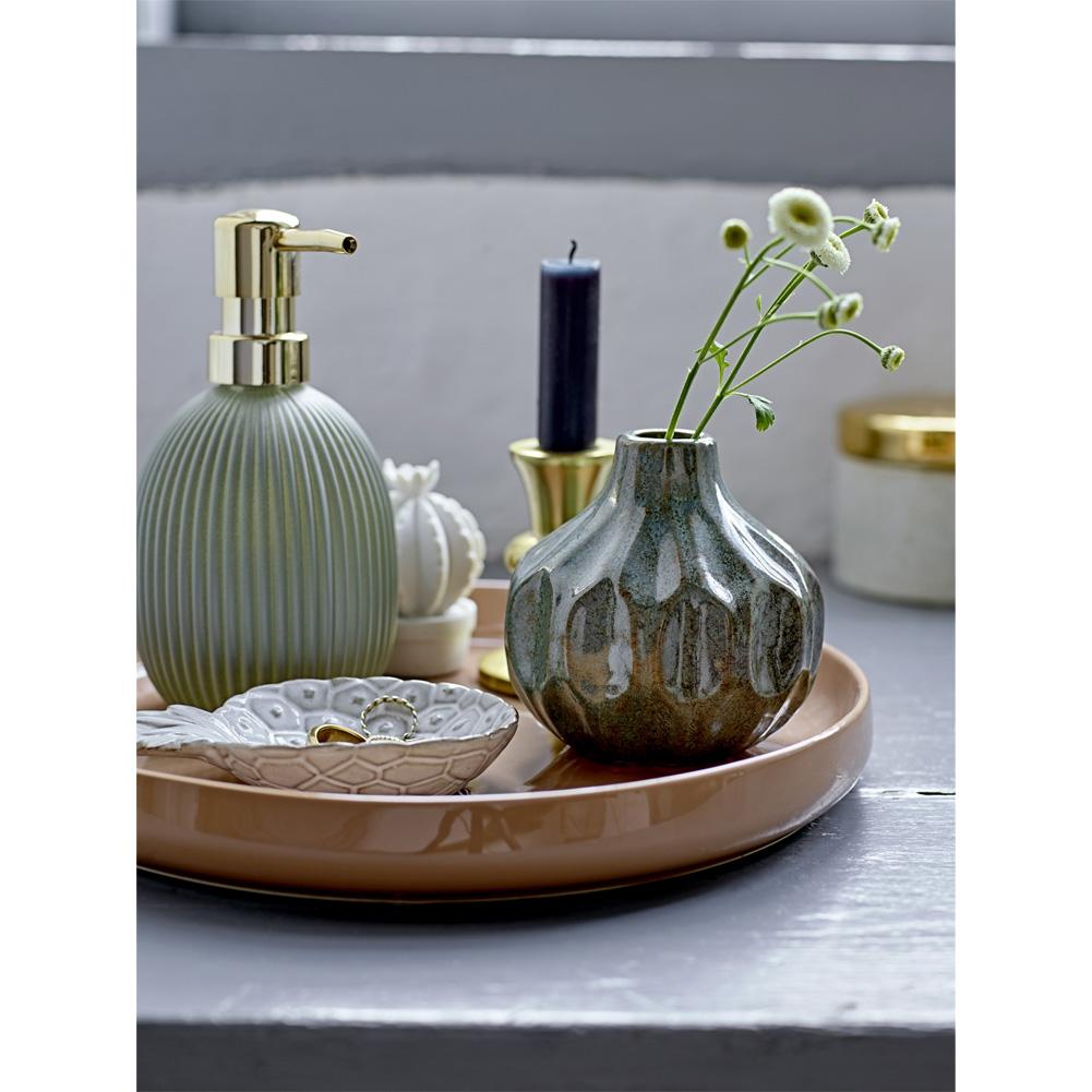 Bloomingville Vase Aus Keramik 10cm Grün 037360 Sunflower Design