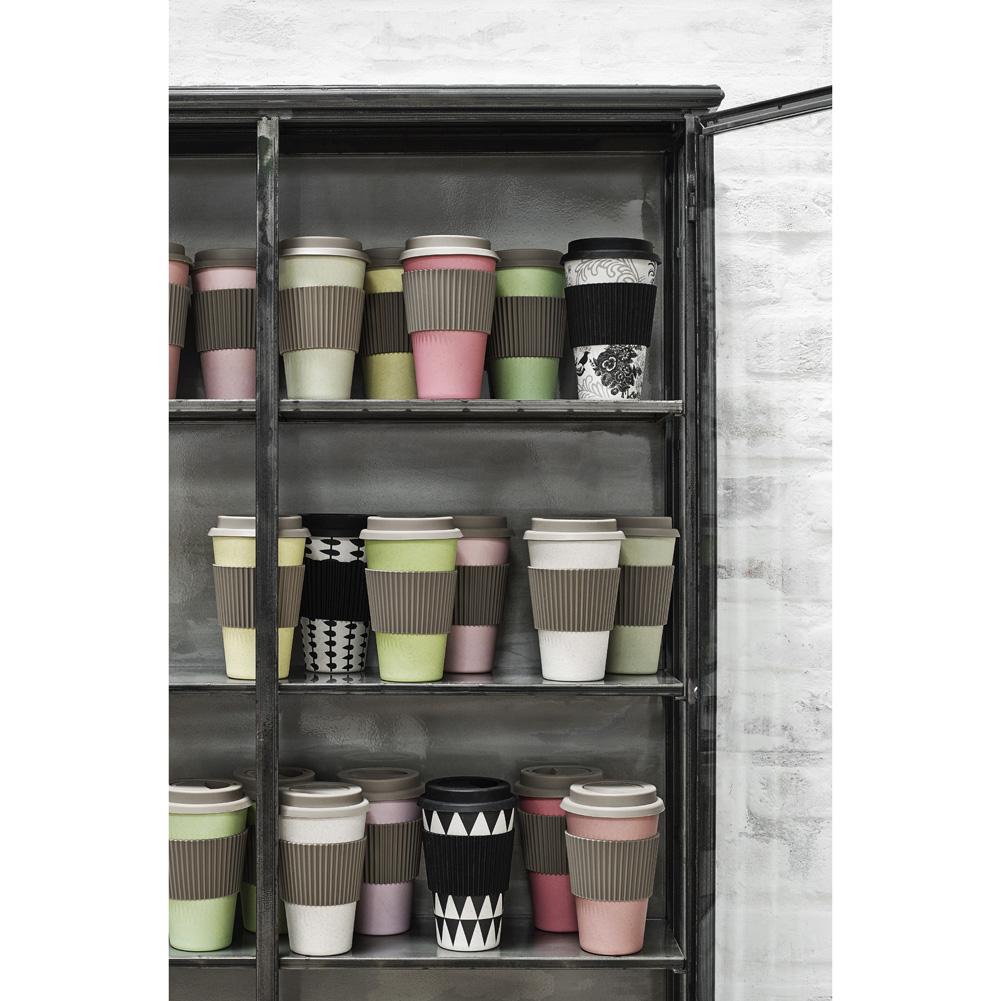nordal kaffeebecher coffee to go bambus beige ebay. Black Bedroom Furniture Sets. Home Design Ideas